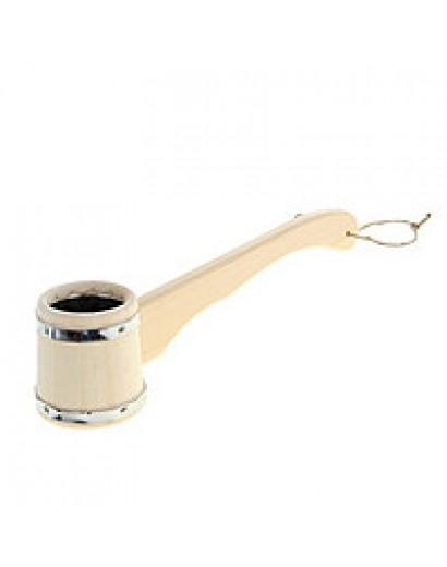 Черпак бондарный с нержавеющей вставкой (горизонтальная ручка)