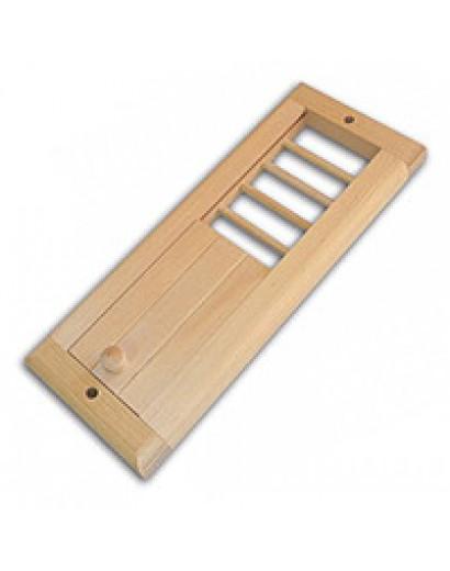 Вентиляционная решетка с задвижкой (ольха)