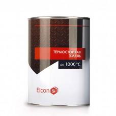 Эмаль ELCON термостойкая, черная, 1 л