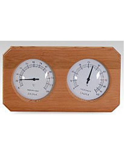 Термогигрометр ОЧКИ квадратные (канадский кедр). kd-207
