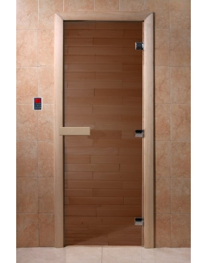 """Дверь банная Doorwood 700x1800 """"Теплый день"""" (бронза)"""