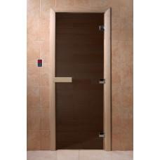 """Дверь банная Doorwood 700х1900 """"Теплая ночь"""" (бронза матовая)"""