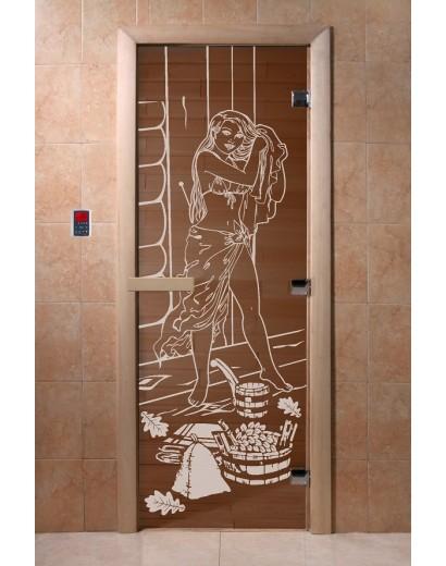 """Дверь банная Doorwood 700х1900 с рисунком """"Дженифер"""""""
