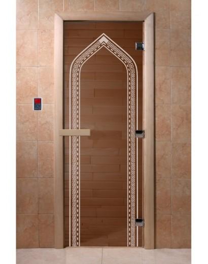 "Дверь банная ""Арка бронза"""