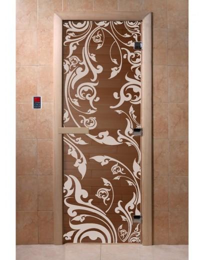 """Дверь банная """"Венеция"""" бронза"""