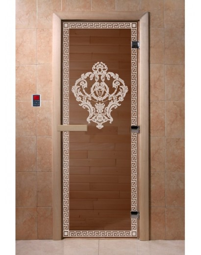 """Дверь банная """"Версаче"""" бронза"""