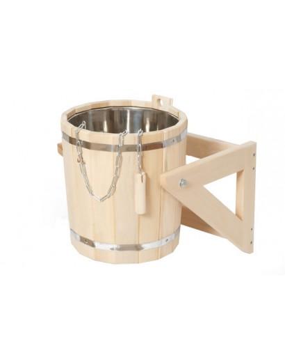 Обливное устройство с нержавеющей вставкой, 15 л (липа)