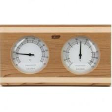 Термогигрометр ОЧКИ квадратные (кедр/сосна). kd-212
