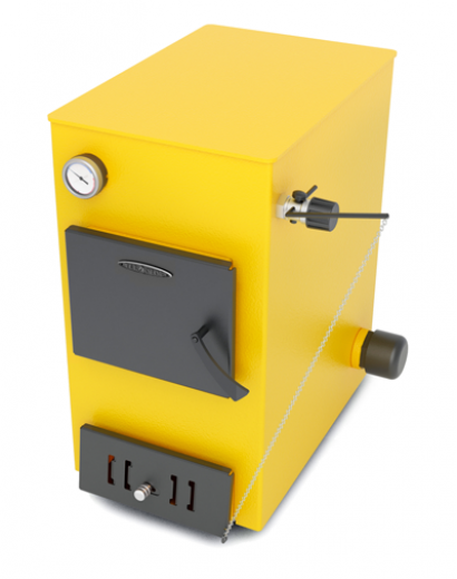 Твердотопливный котел ТMF Ташкент Автоматик, 12кВт, АРТ под ТЭН, желтый