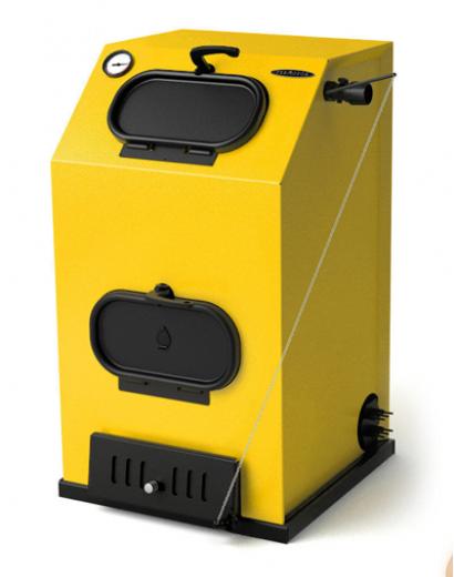 Твердотопливный котел ТMF Прагматик Электро, 25кВт, АРТ, ТЭН 9кВт, желтый