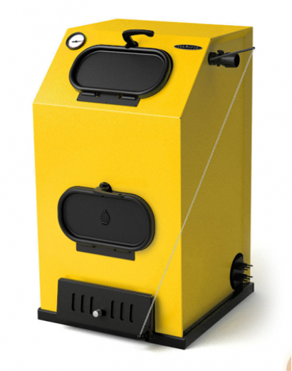 Твердотопливный котел ТMF Прагматик Автоматик, 25кВт, АРТ под ТЭН, желтый