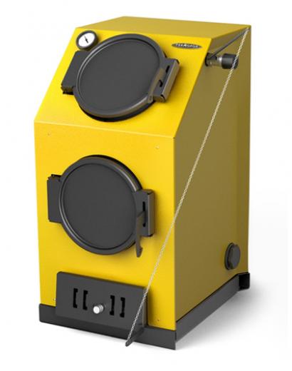 Твердотопливный котел ТMF Прагматик Электро, 20кВт, АРТ, ТЭН 6кВт, желтый
