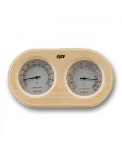 Термогигрометр ОЧКИ овал (сосна). kd-217