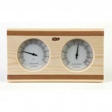 Термогигрометр ОЧКИ квадратные (сосна/кедр). kd-211