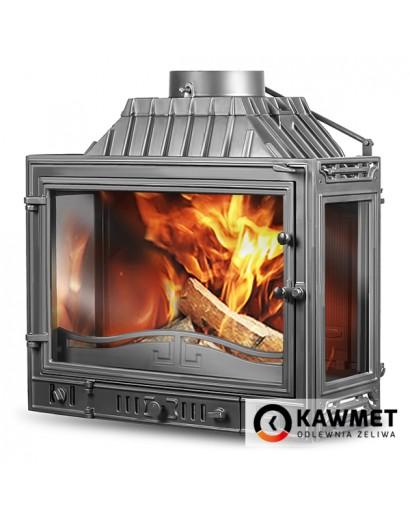 Каминная топка Kaw-Met W4PLB DUAL-14,5 кВт три стекла